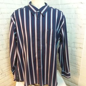 Tommy Hilfiger Mens XL Button Down Striped Shirt